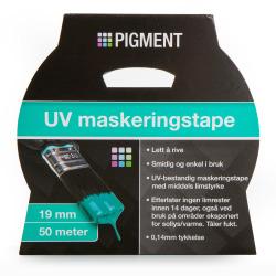Maskeringstape UV 19 mm 50 m blå Pigment