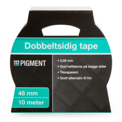 Dobbeltsidig tape 48 mm 10 m Pigment