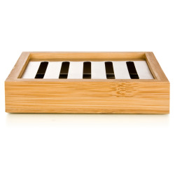 Bamboo såpeskål m stål