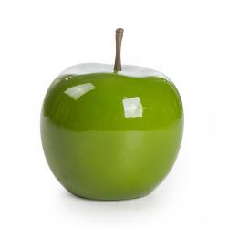 Dekoreple H:26 cm fiberstone grønn
