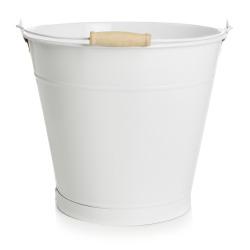Bøtte m/hank 9l. sink hvit
