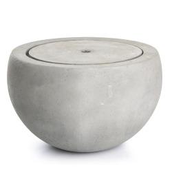 Fontene m/pumpe grå betong Ø:65 cm