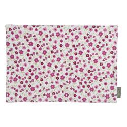 Spisebrikke Songvaar blomster/rosa 48x33 cm