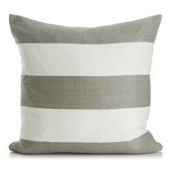 Pute m/dunfyll grå/hvit stripete 50x50 cm Enjoy