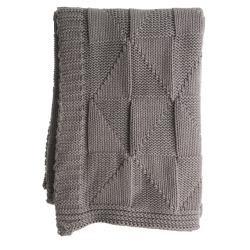 Pledd strikket beige Millie 125x150 cm