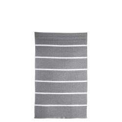 Rye plast grå m/hvite striper 60x90 cm