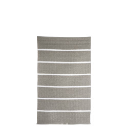 Rye plast beige m/hvite striper 60x90 cm