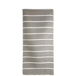 Rye plast beige m/hvite striper 70x140 cm