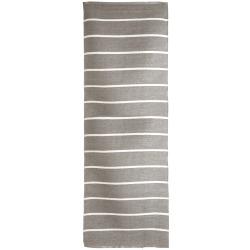 Rye plast beige m/hvite striper 70x200 cm