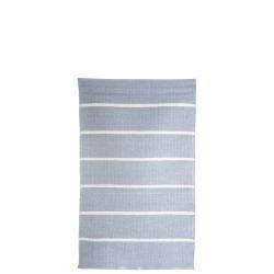 Rye plast lys blå m/hvite striper 60x90 cm