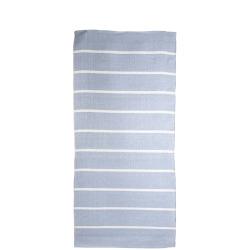 Rye plast lys blå m/hvite striper 70x140 cm