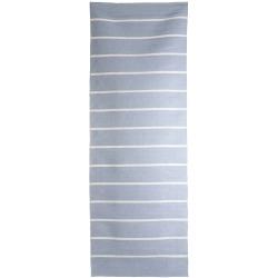 Rye plast lys blå m/hvite striper 70x200 cm