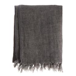 Pledd Olivia 100% lin mørk grå 125x160 cm