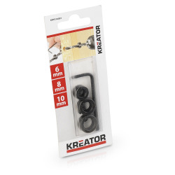 Dybdestopp for bor 3 pk 6-8-10 mm Kreator