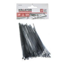 Kabelstrips svarte 100 pk 5 x 120 mm