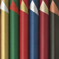 Glitterpapir ensfarget 6 ass 1,5mx70 cm