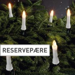 Reservepærer 3 stk. til juletrebelysning inne 30 lys (80-9100) E10