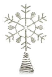 Toppstjerne til juletre i metall og perler Ø:18 cm