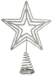 Toppstjerne til juletre i metall Ø:18 cm