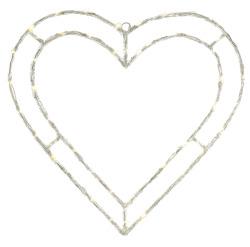 Hjerte m/48 ledlys Ø:80 cm