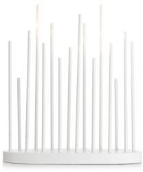 Mikrostake hvit 16 LED-lys