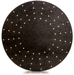 Juletreunderlag sort 80 lys LED Ø100cm