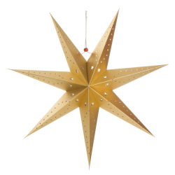 Papirstjerne 7-armet gull Ø:60 cm