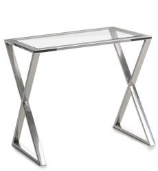 Madame Sidebord Royal glass/sølv  H:45 B:35 D:50