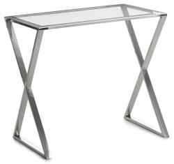 Madame Sidebord Royal glass/sølv  H:55 B:40 D:60