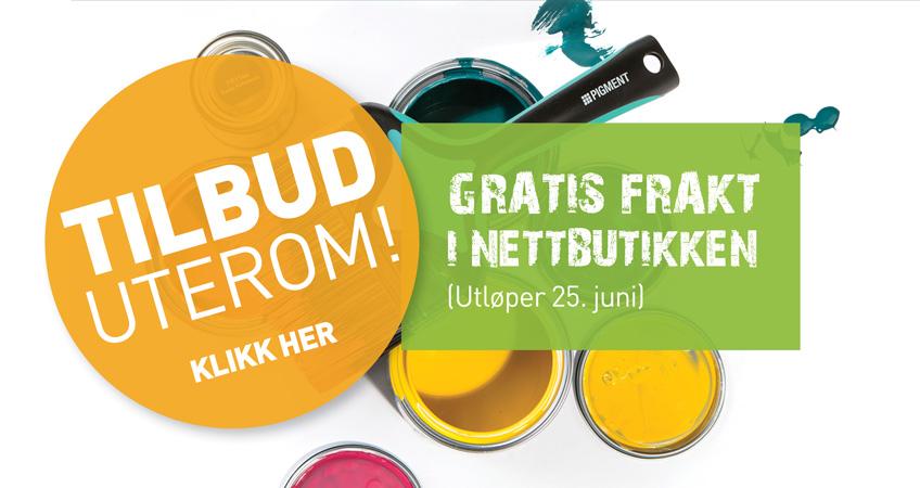 TILBUD på uterom + FRI FRAKT! (Gjelder 15. - 25. juni)