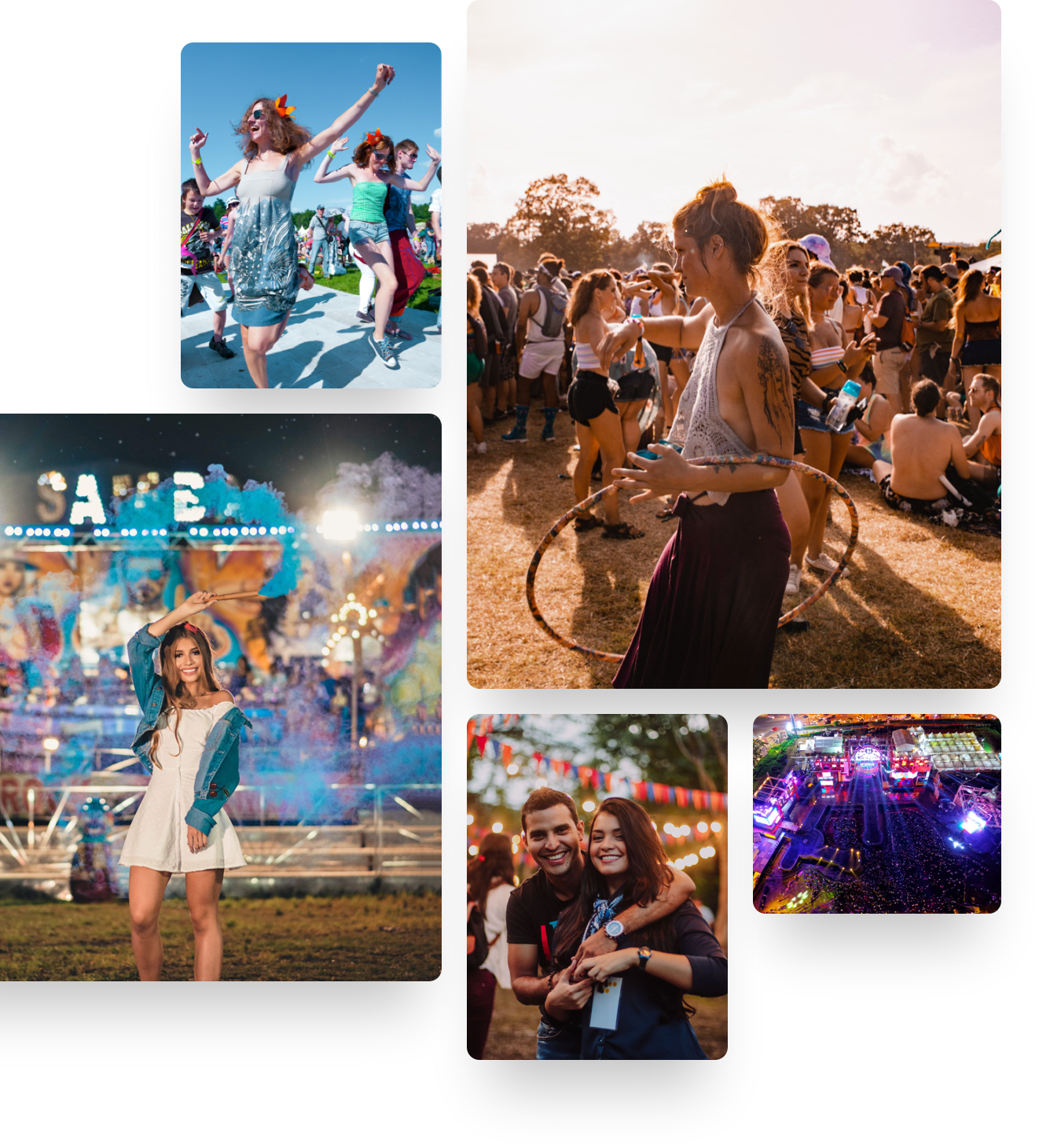 Festival atmosphere collage