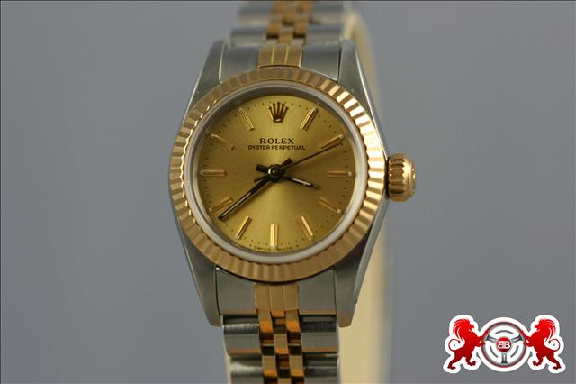 1900 Rolex Lady's Oyster Perpetual Stainless Steel & Gold