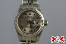 1900 Rolex Lady's Datejust SS&18kt White Gold Roman Dial