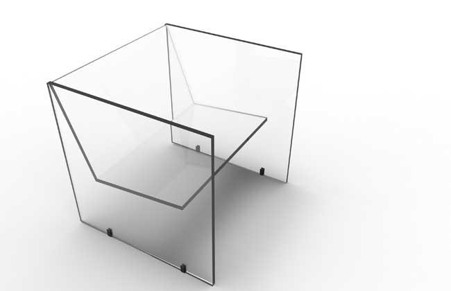 Poltrona em vidro por Renzo Menegon