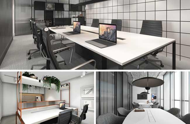 Espaço de coworking para arquitetos