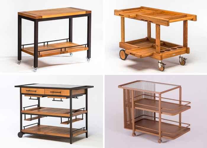 Carrinhos de chá Franccino: design e funcionalidade