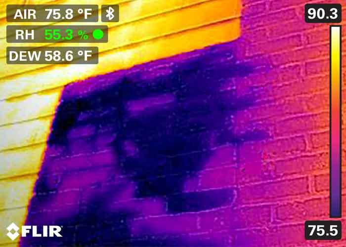 Câmeras termográficas na inspeção de infiltrações