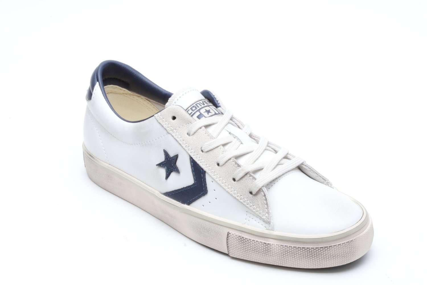 3377a29e08 Amazon.com: CONVERSE Pro Leather Vulc Ox sneakers LEATHER WHITE NAVY  148457C: Shoes