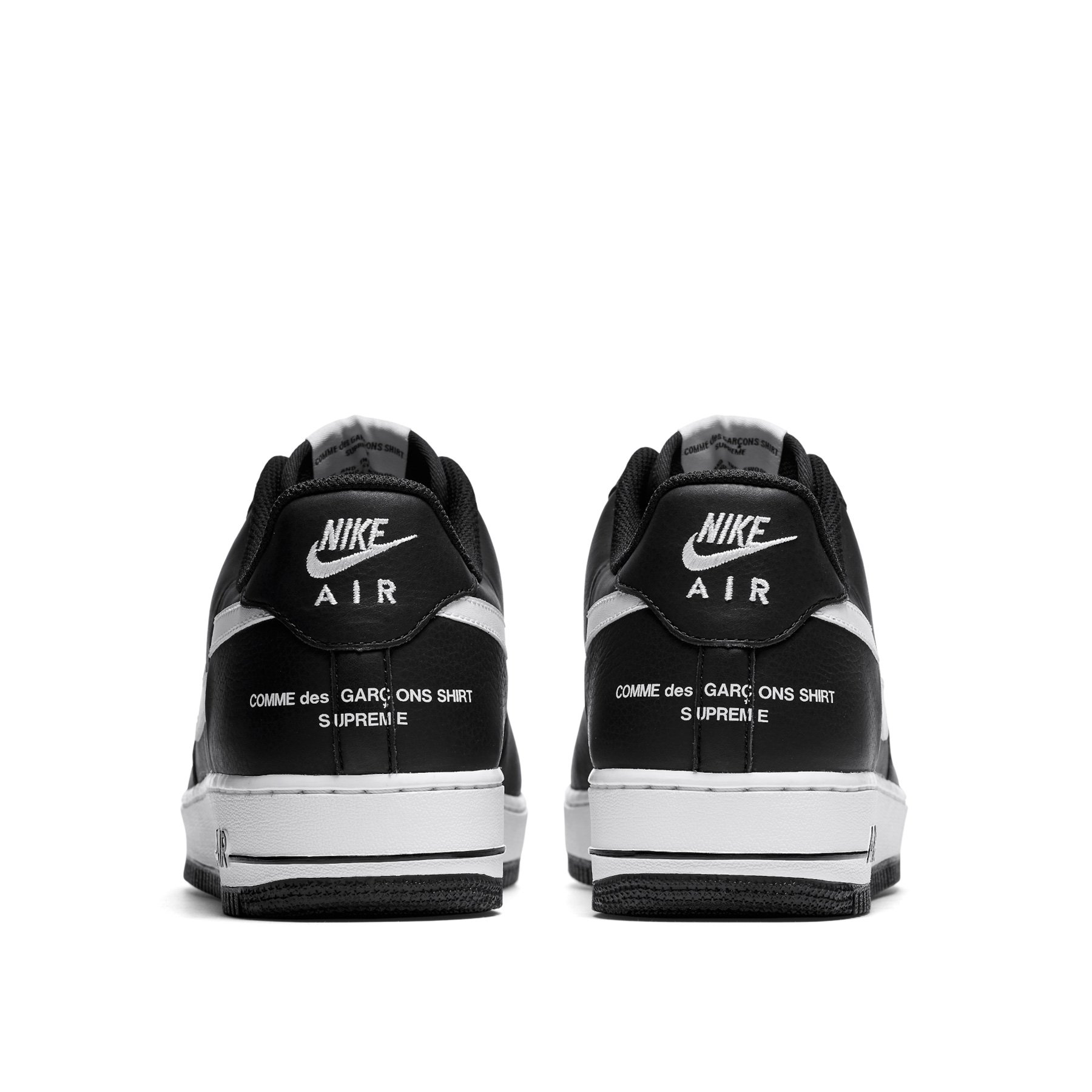 15a9b7e6f8 Very Goods | Comme des Garçons SHIRT/Supreme/Nike Air Force 1 Low (Black/ White) – Dover Street Market NY