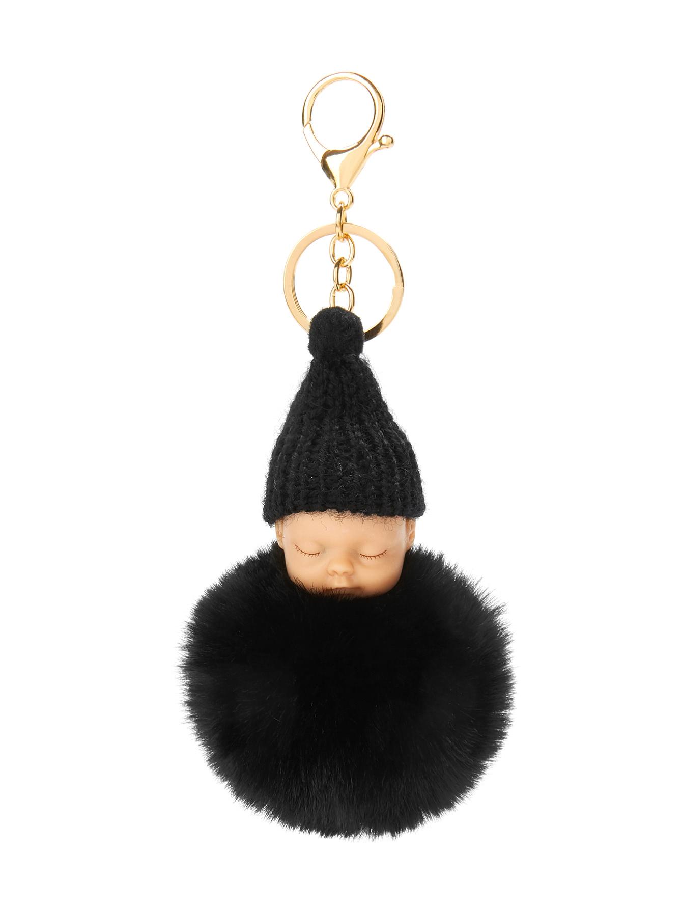 353c91a33f Very Goods | Baby Design Pom Pom Keychain -SheIn(Sheinside)