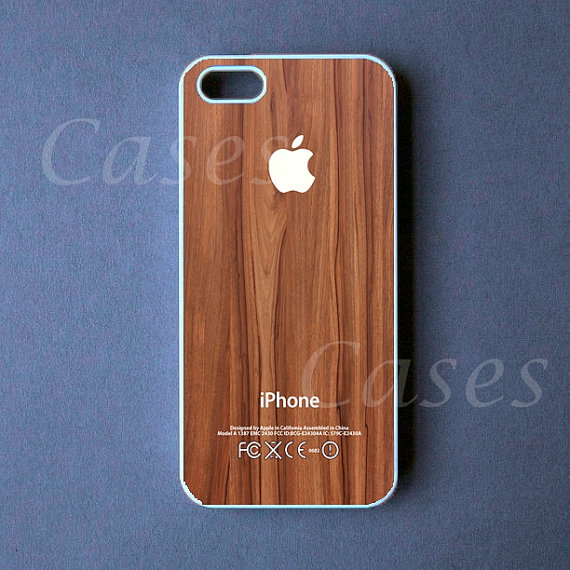 on sale bb126 790ac Iphone 5 Case - White Logo on Wood Iphone 5 Cover - Iphone 5s case - Iphone  5c case - Iphone4/4s case
