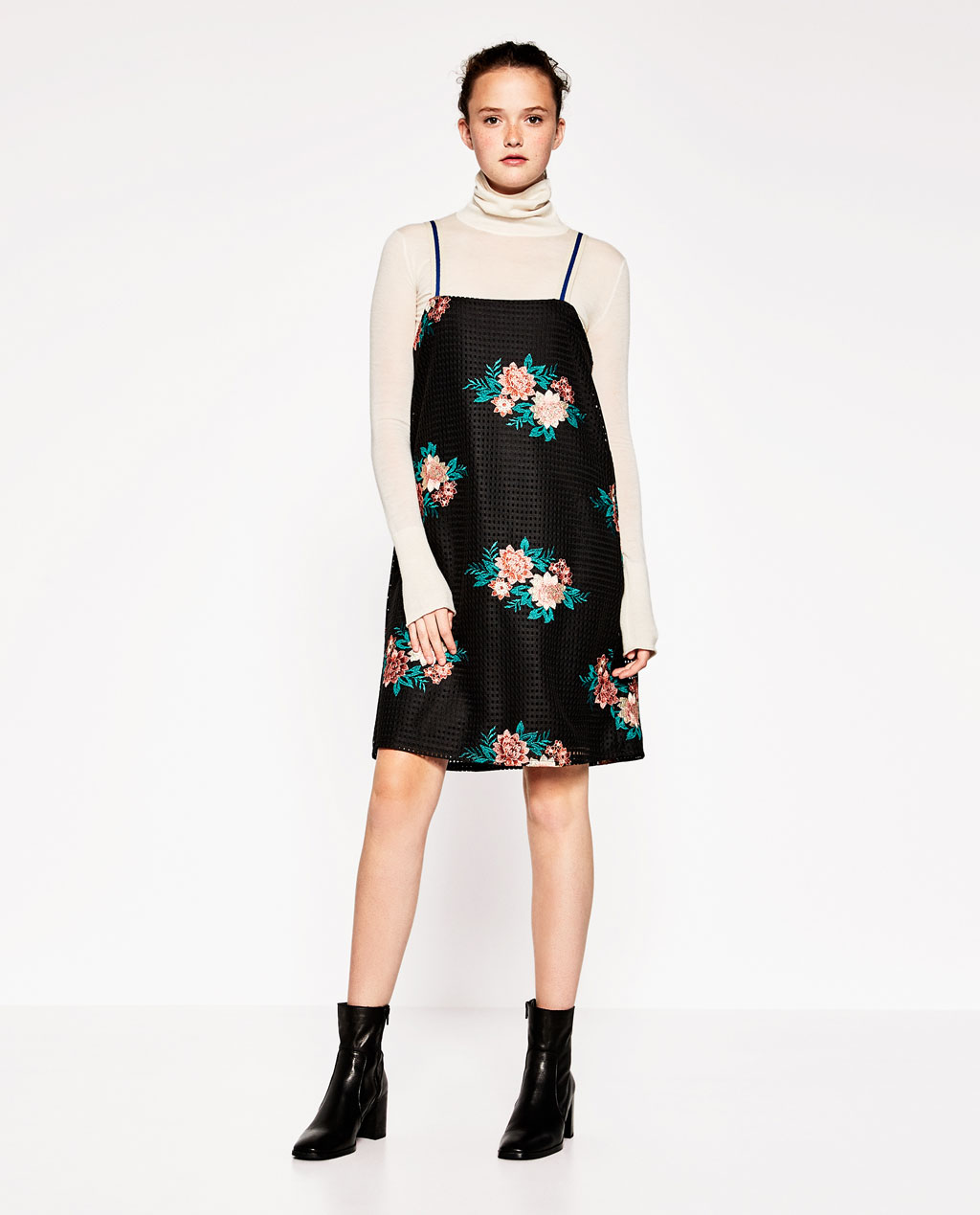 Very Goods Floral Embroidered Dress Dresses Woman Zara United