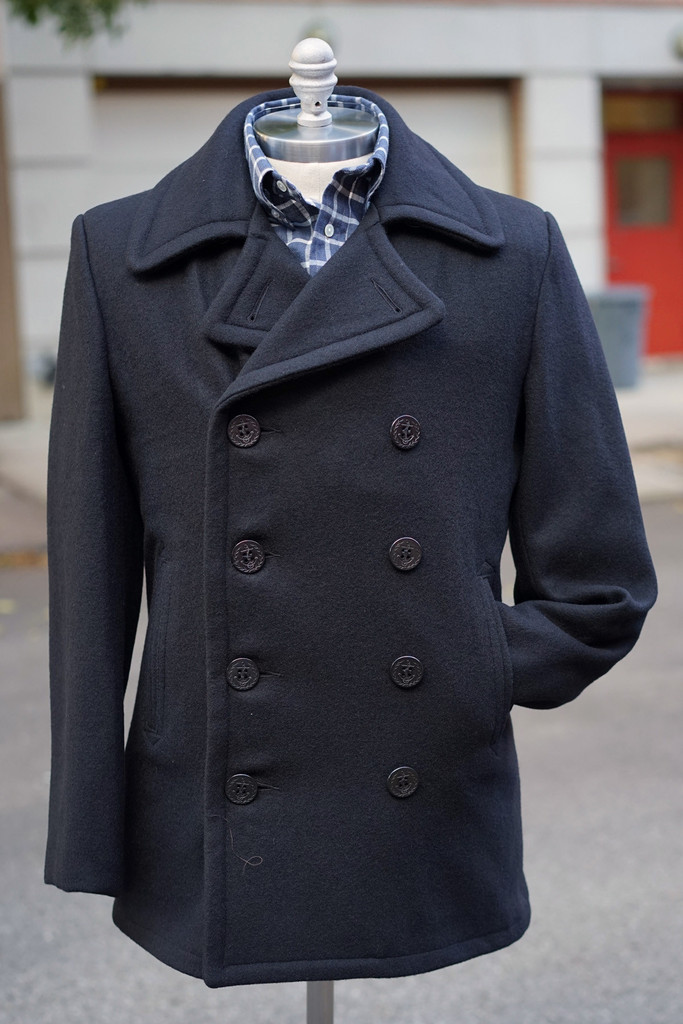 Schott Navy Pea Coat Uk - Tradingbasis