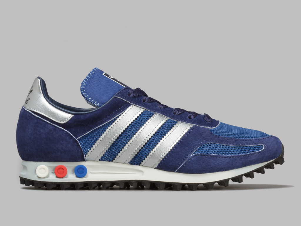 adidas LA Trainer OG (Dark Marine Silver Metallic Dark Blue) – Oi Polloi