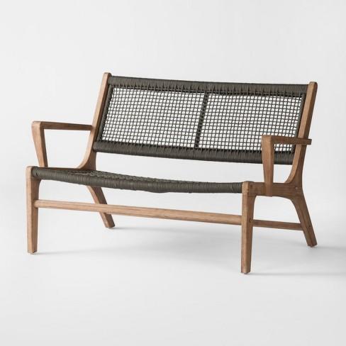 Brilliant Oceans Wood Rope Patio Loveseat Project 62 Target Cjindustries Chair Design For Home Cjindustriesco