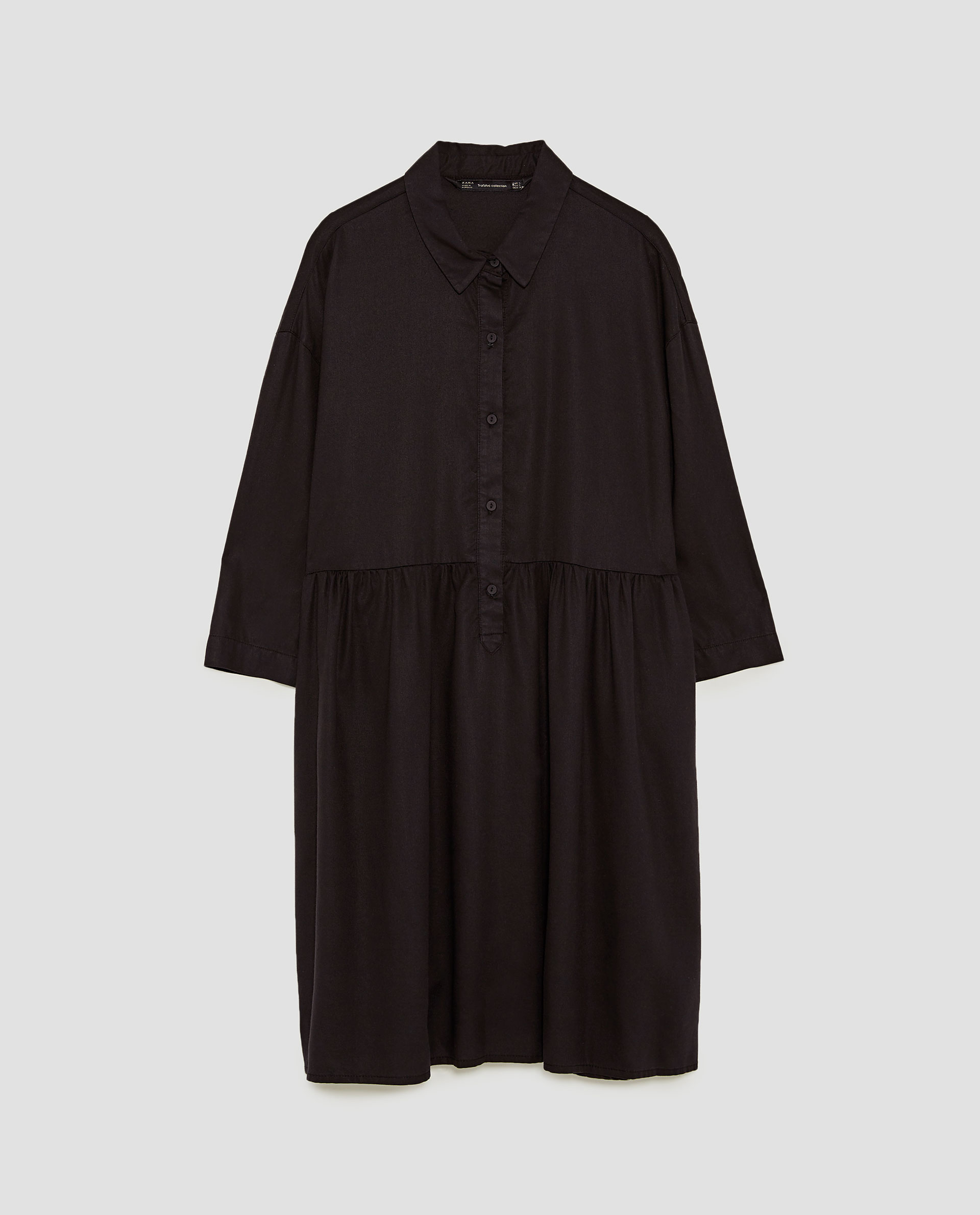 f08114ab Very Goods | RUFFLED SHIRT DRESS - View all-DRESSES-WOMAN | ZARA ...