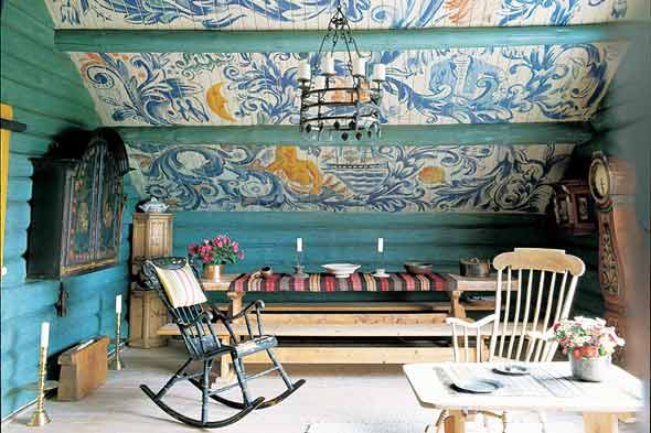 Beau Very Goods | Traditional Scandinavian Furniture With Norwegian Home Is  Painted With Images Of Sailors And Ships Photo