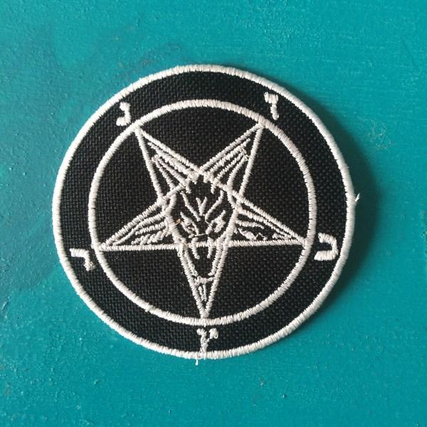 Very Goods Baphomet Pentagram Patch Shop Patches Custom