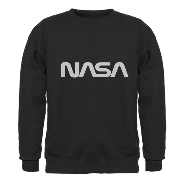 meet 03aa1 3bc87 Amazon.com: NASA Worm Gray Logo Snake Sweatshirt dark by CafePress: Clothing