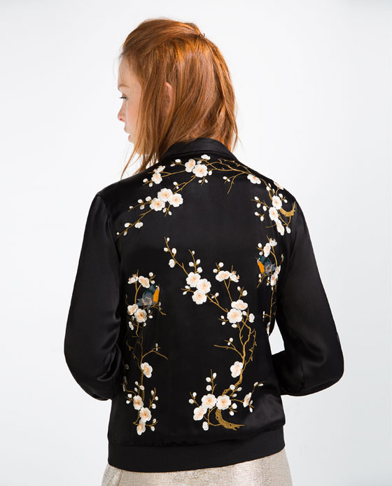 Very goods floral embroidered bomber jacket bombers